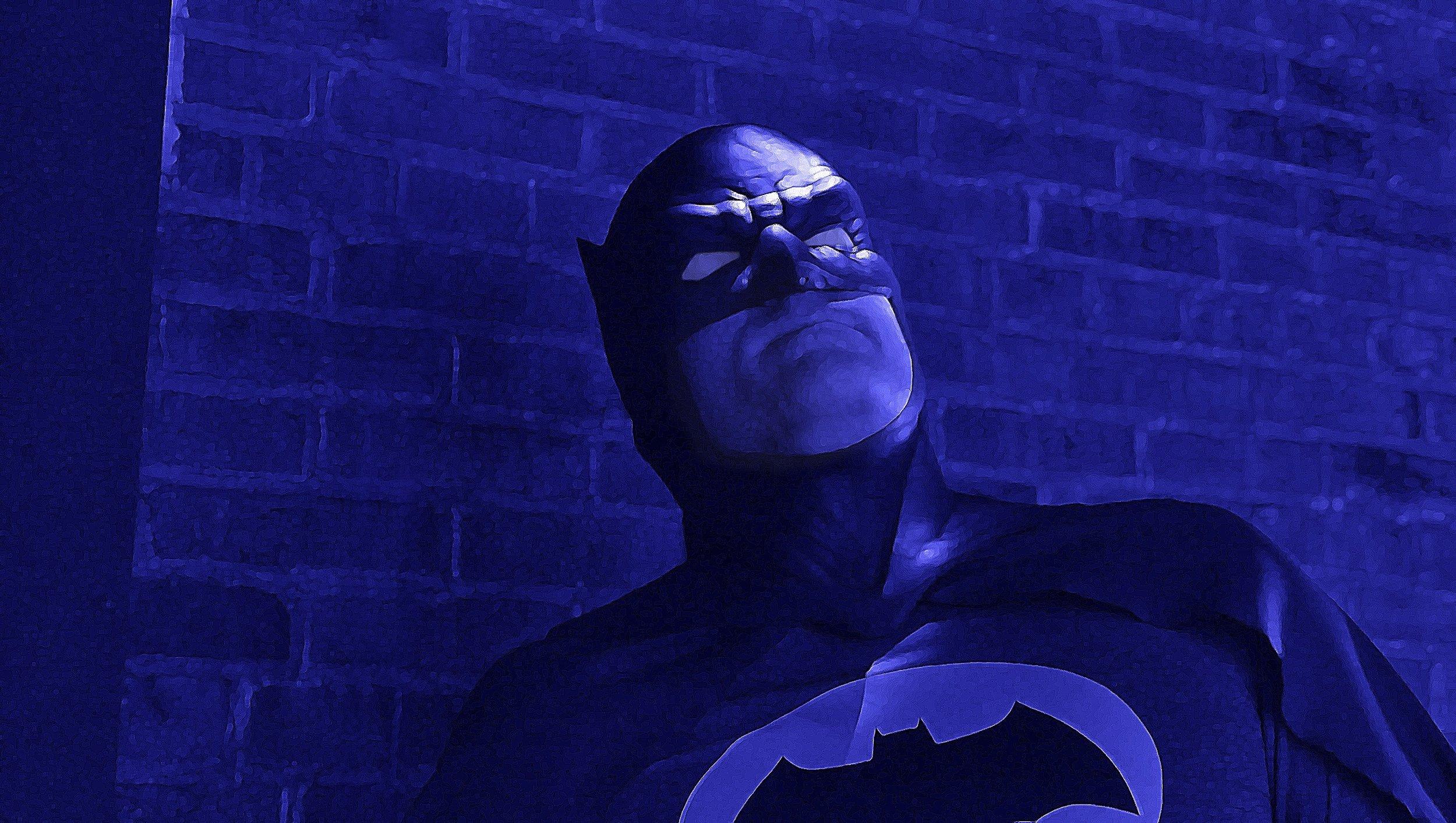 Me as Batman, The Dark Knight, in my epic fan film.