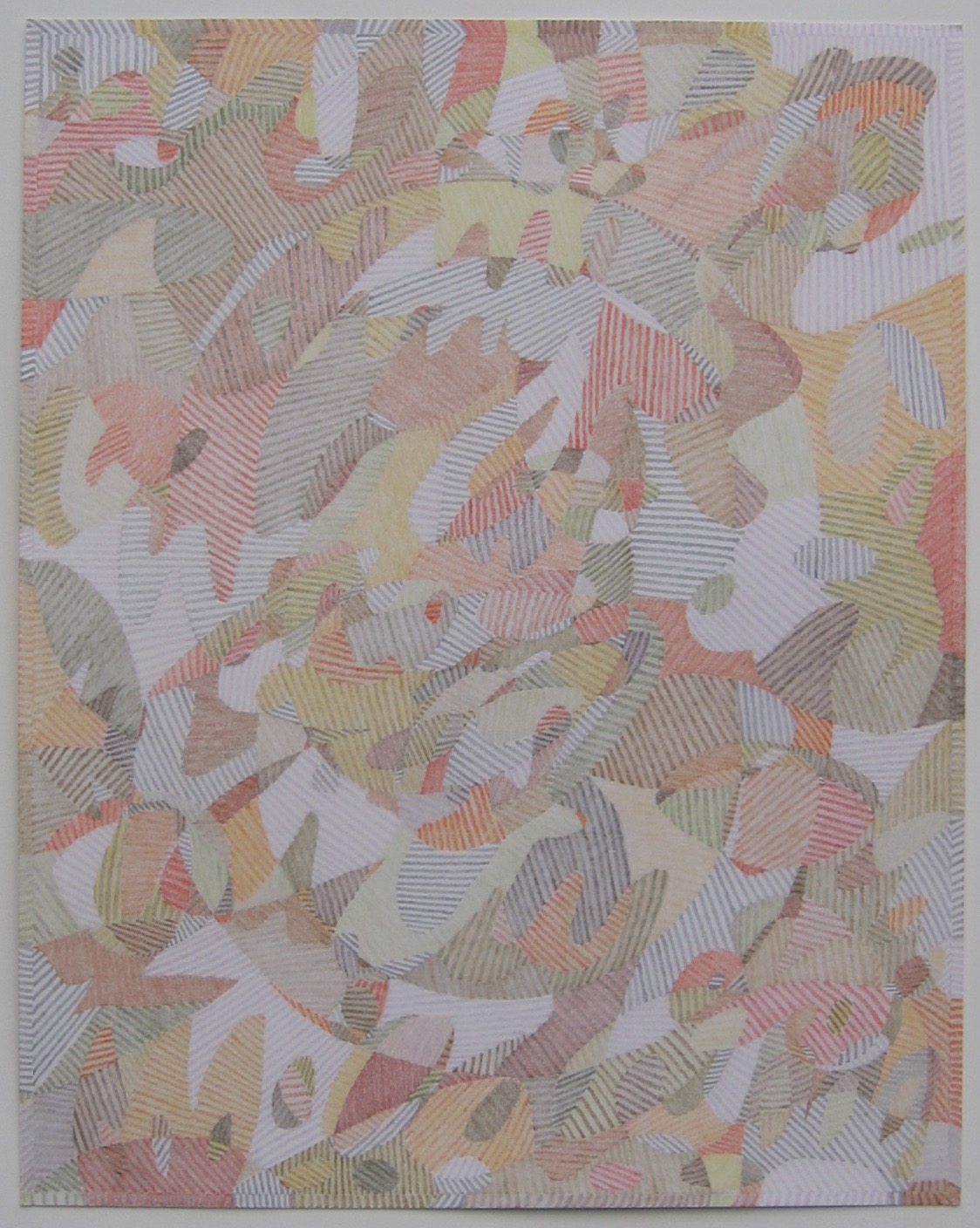 """Lg Drawing No. 1               2016 Colored pencil on paper 19  """" x 24  """" $3,2  00 (framed)"""