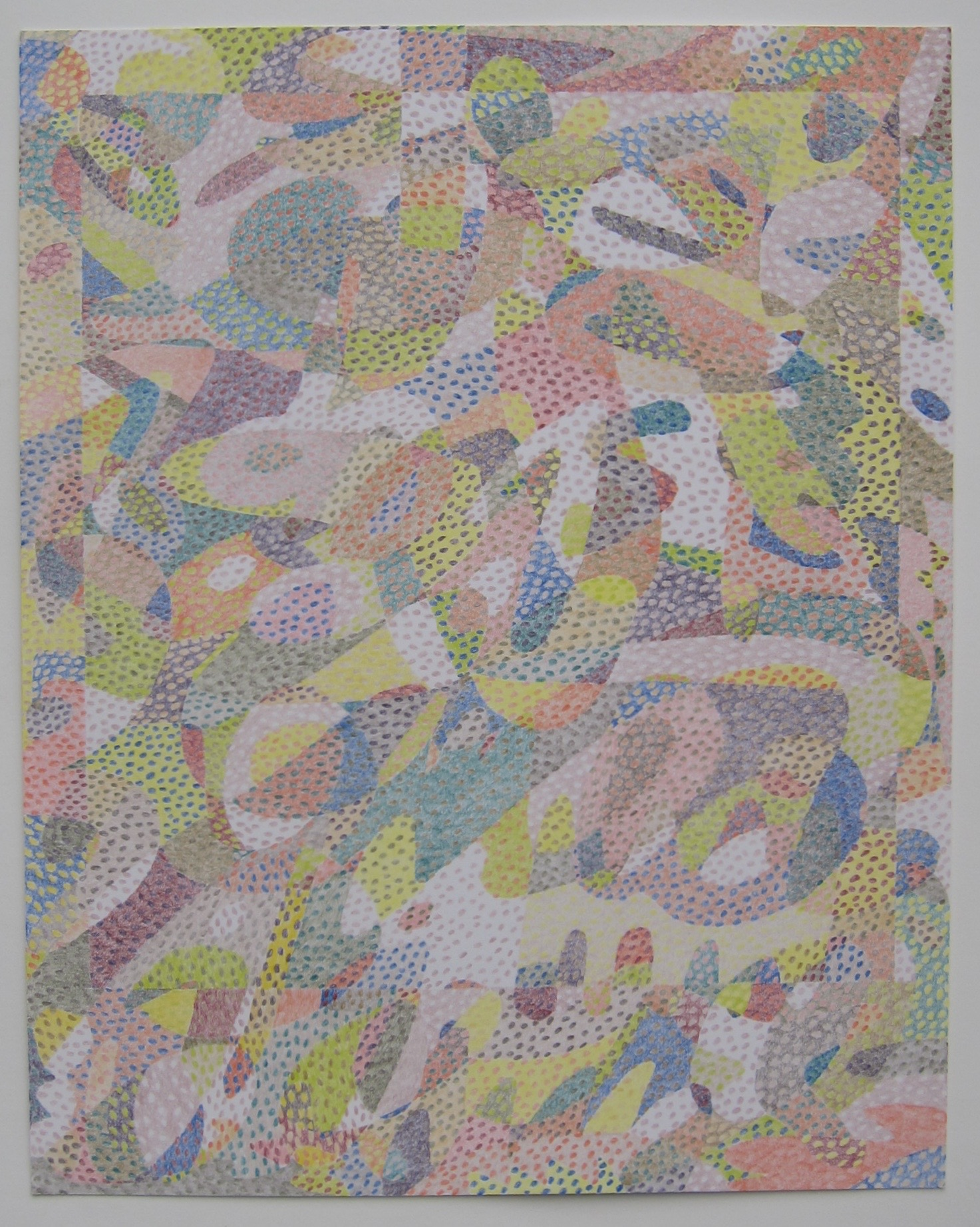 """Lg Drawing No. 3               2016 Colored pencil on paper 19"""" x 24"""" $3,200 (framed)"""