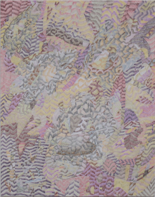 """Drawing No. 10             2015 Colored pencil on paper   11"""" x 14"""" $1,400 (unframed)"""