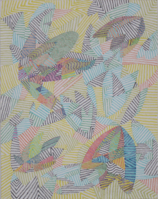 """Drawing No. 13                 2015   Colored pencil on paper    11"""" x 14"""" $1,400 (unframed)"""