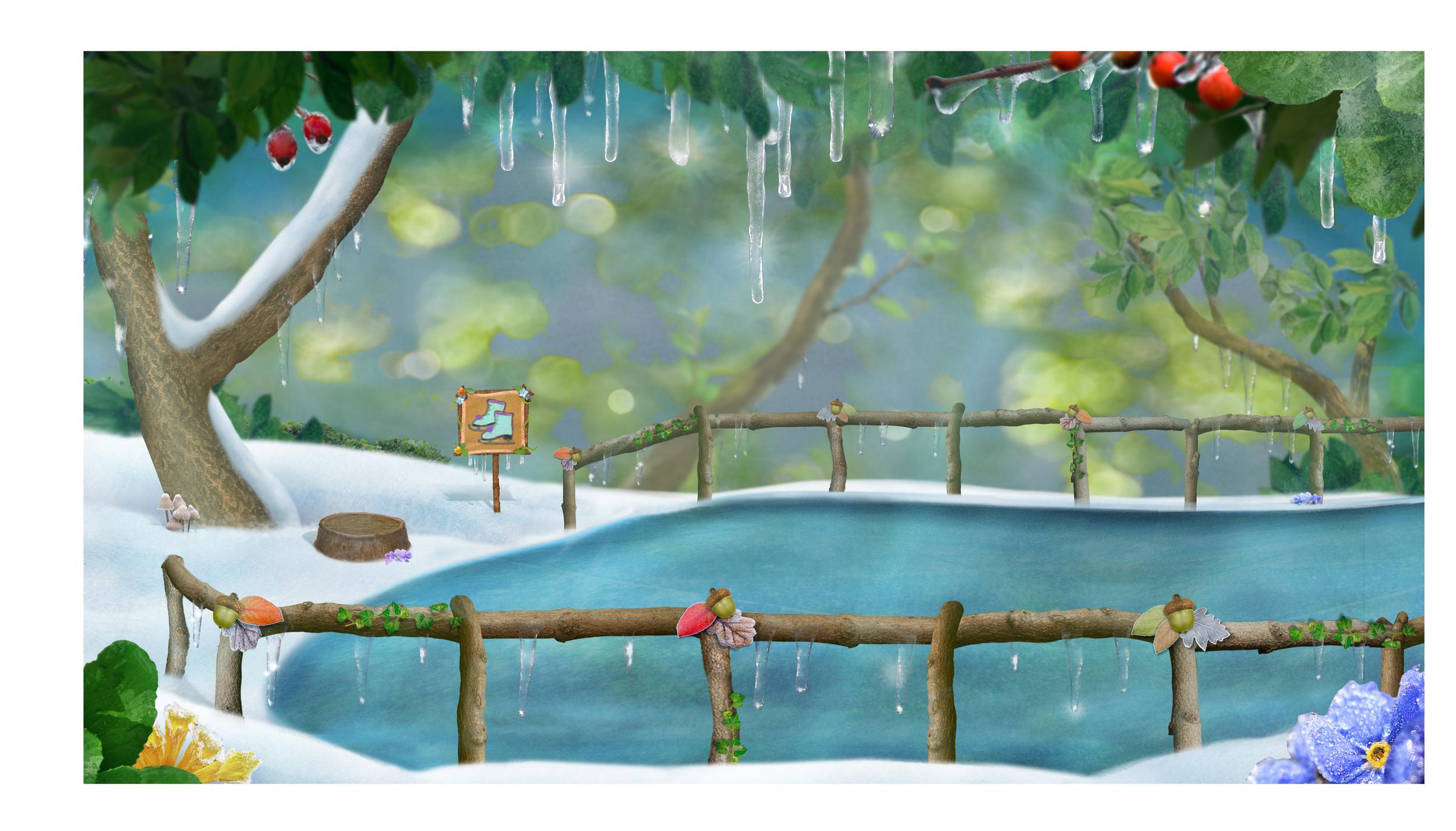 Background: Disney Jr, 3rd & Bird