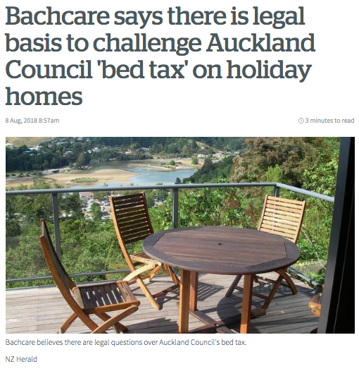 NZ Herald Article - Bachcare APTR 'Bed Tax'