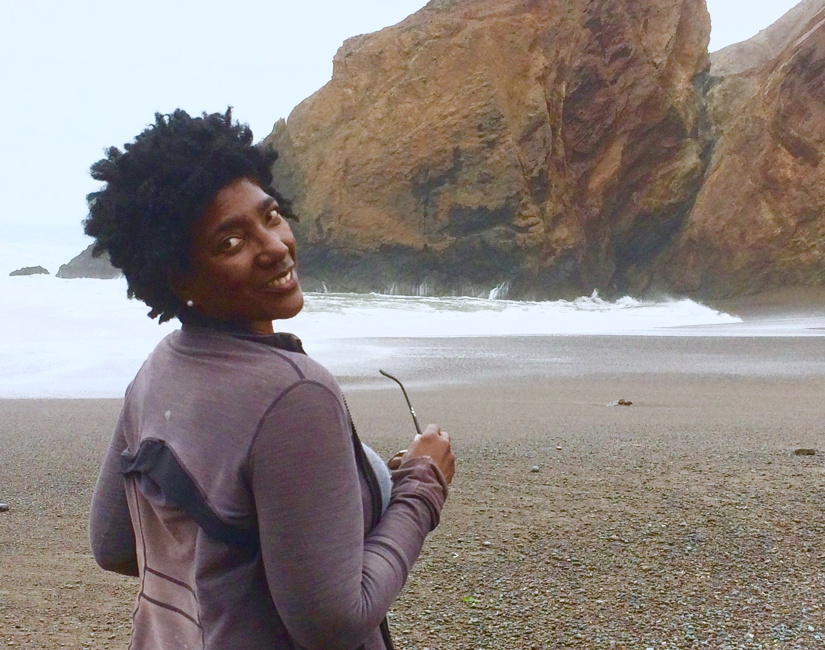 September Williams Author of Chasing Mercury at Tennessee Valley Cove, Marin County California