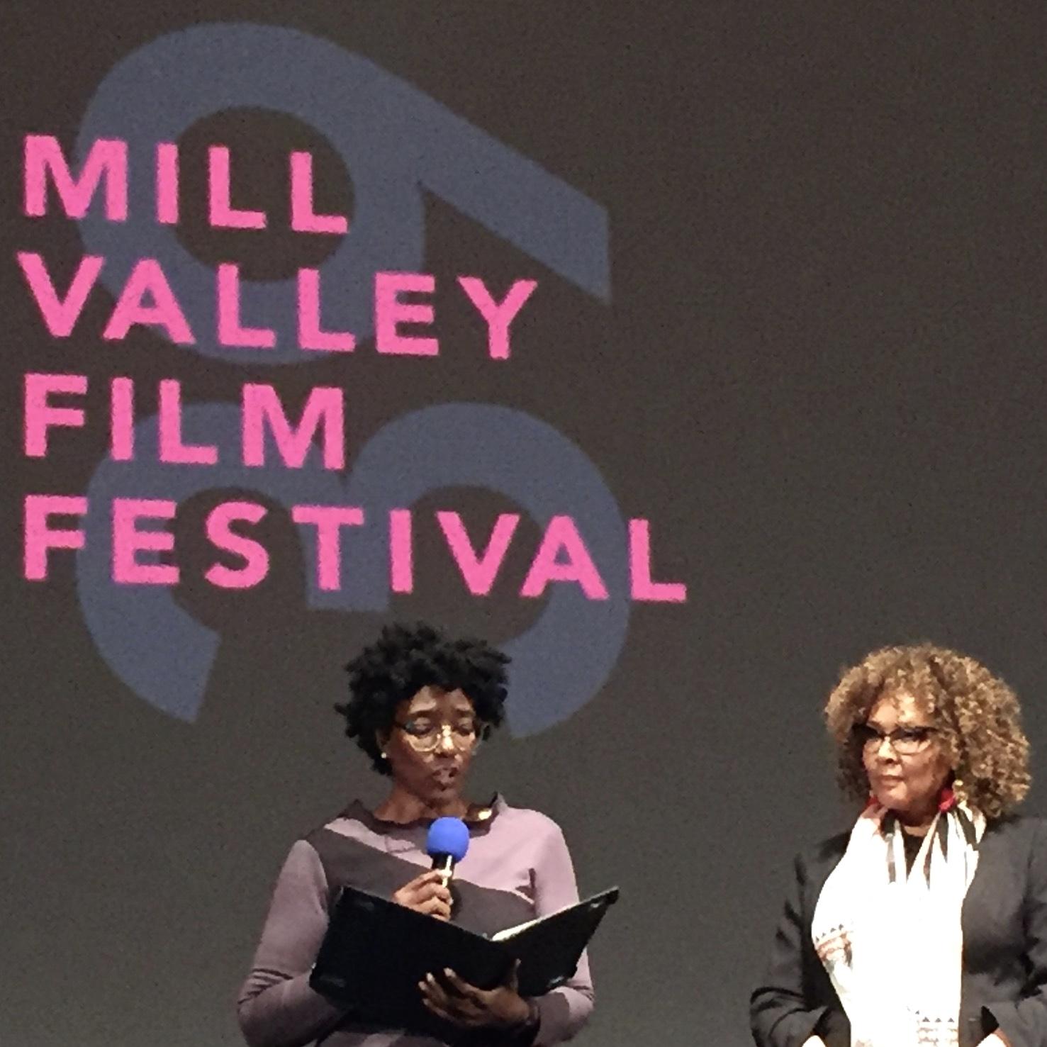September Williams presents the MVFF award to Julie Dash