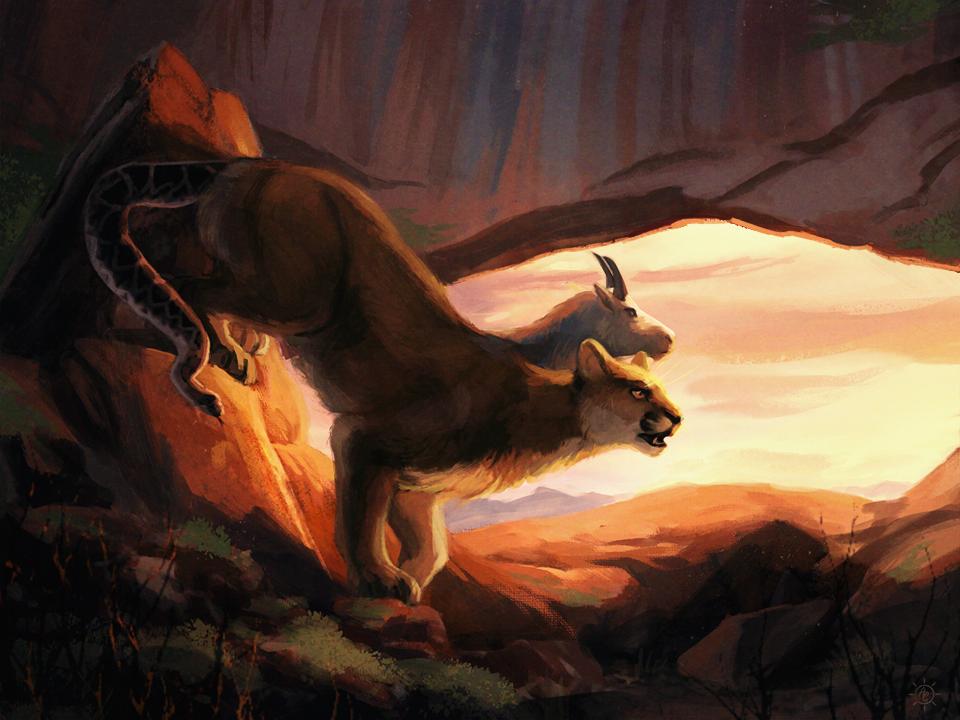 Southwestern Chimera Creature Concept