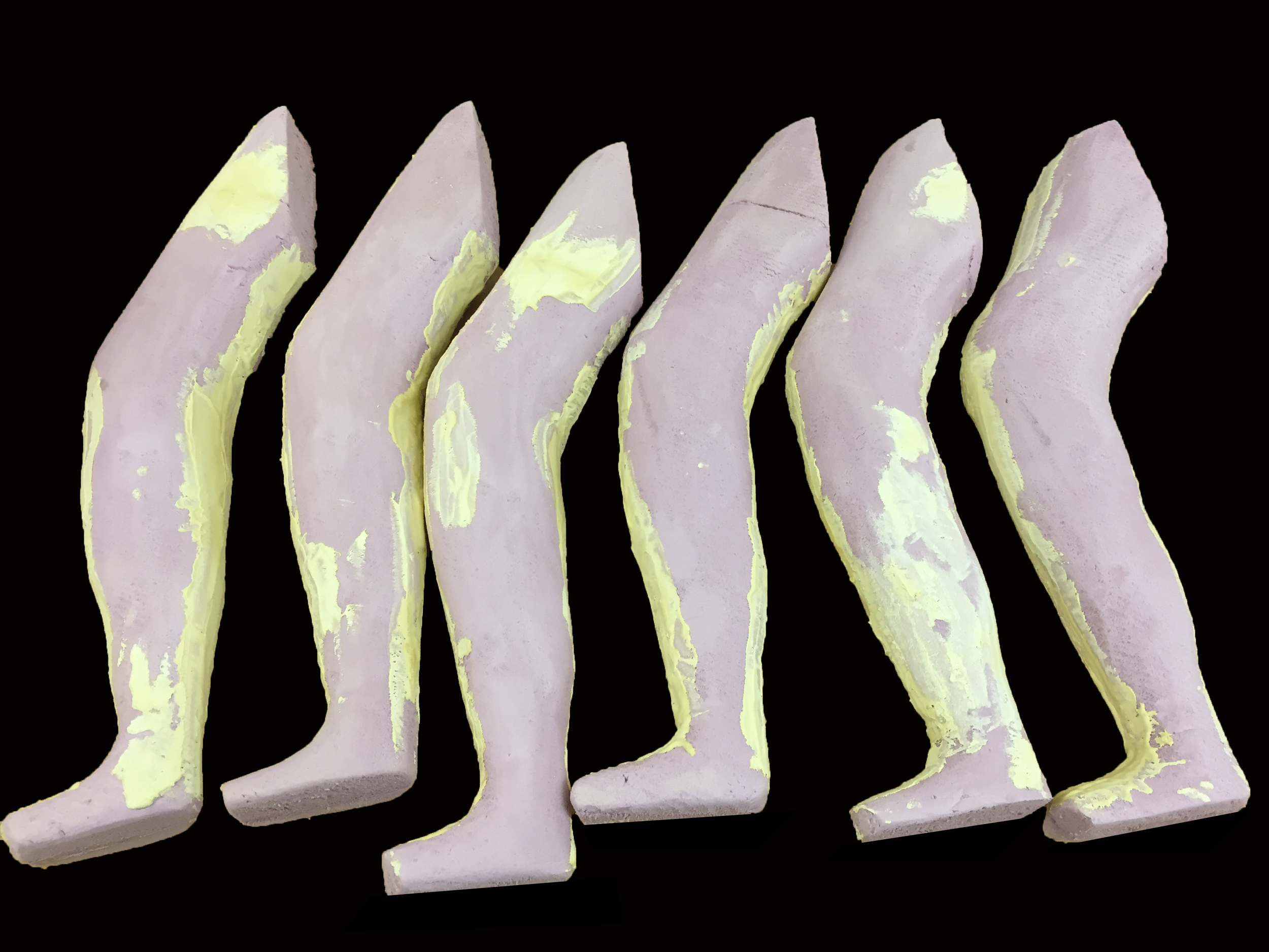 Legs assembled and glued