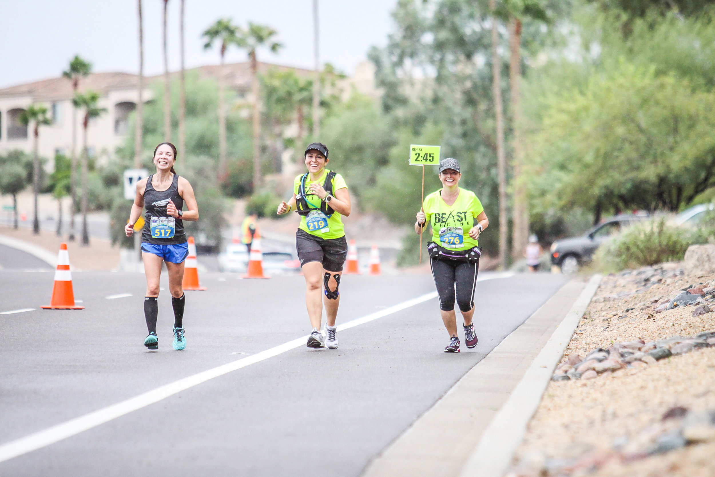Around mile 11 of the October 13, 2018  Craft Classic Phoenix Half Marathon  where my  Beast Pacing  teammate and I paced the 2:45 group.