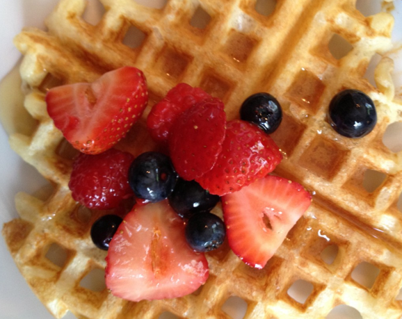 caroline's kitchen table - waffles