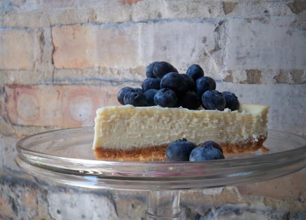 caroline's kitchen table - goat cheese cheesecake