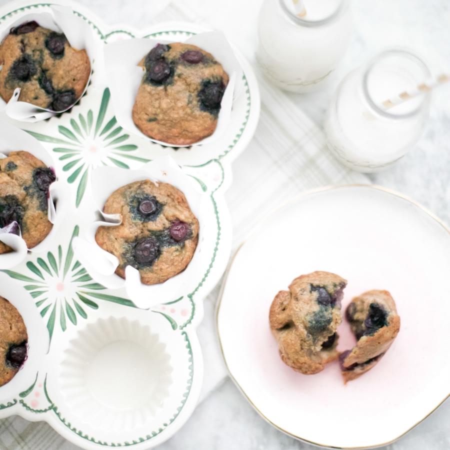 CKT Healthy Blueberry Muffins