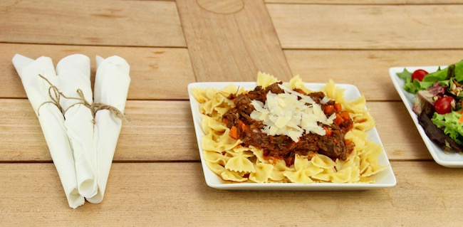 Beef Short Rib Ragu over Pasta