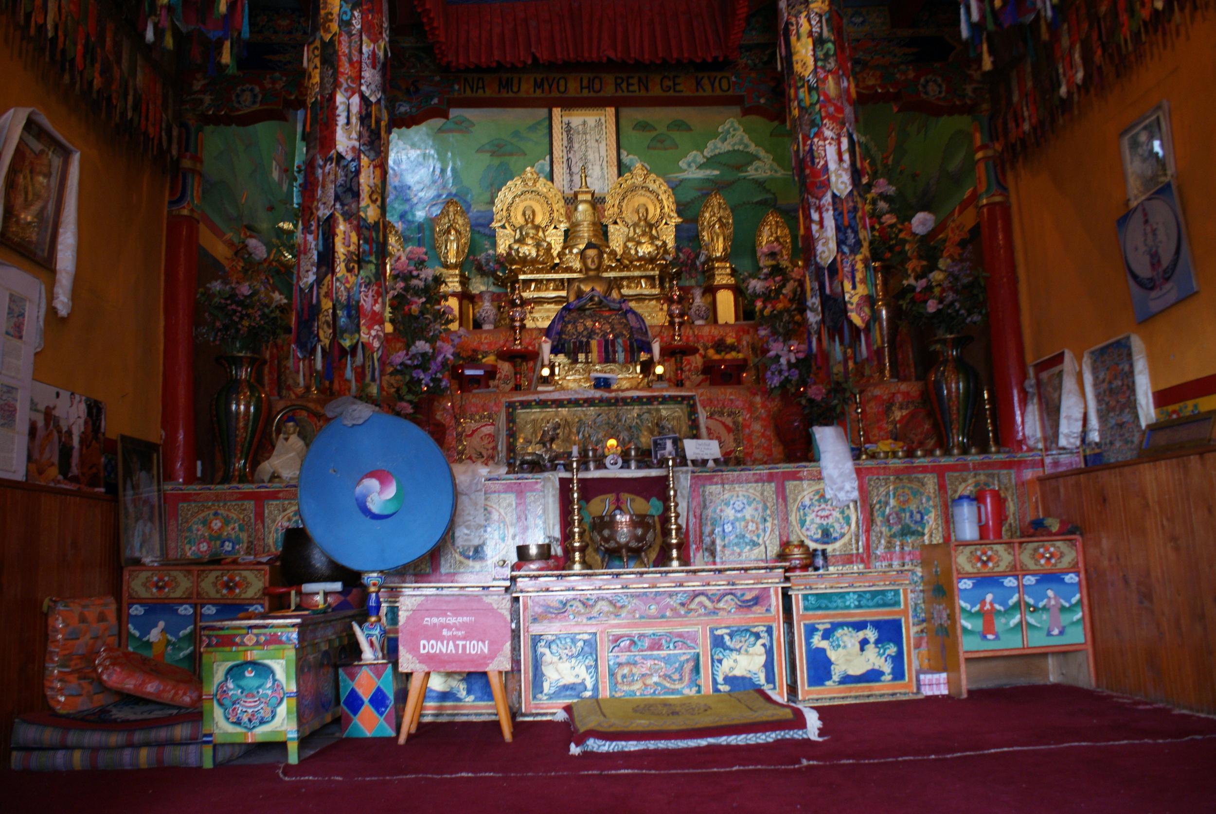 Inside Shanti Stupa