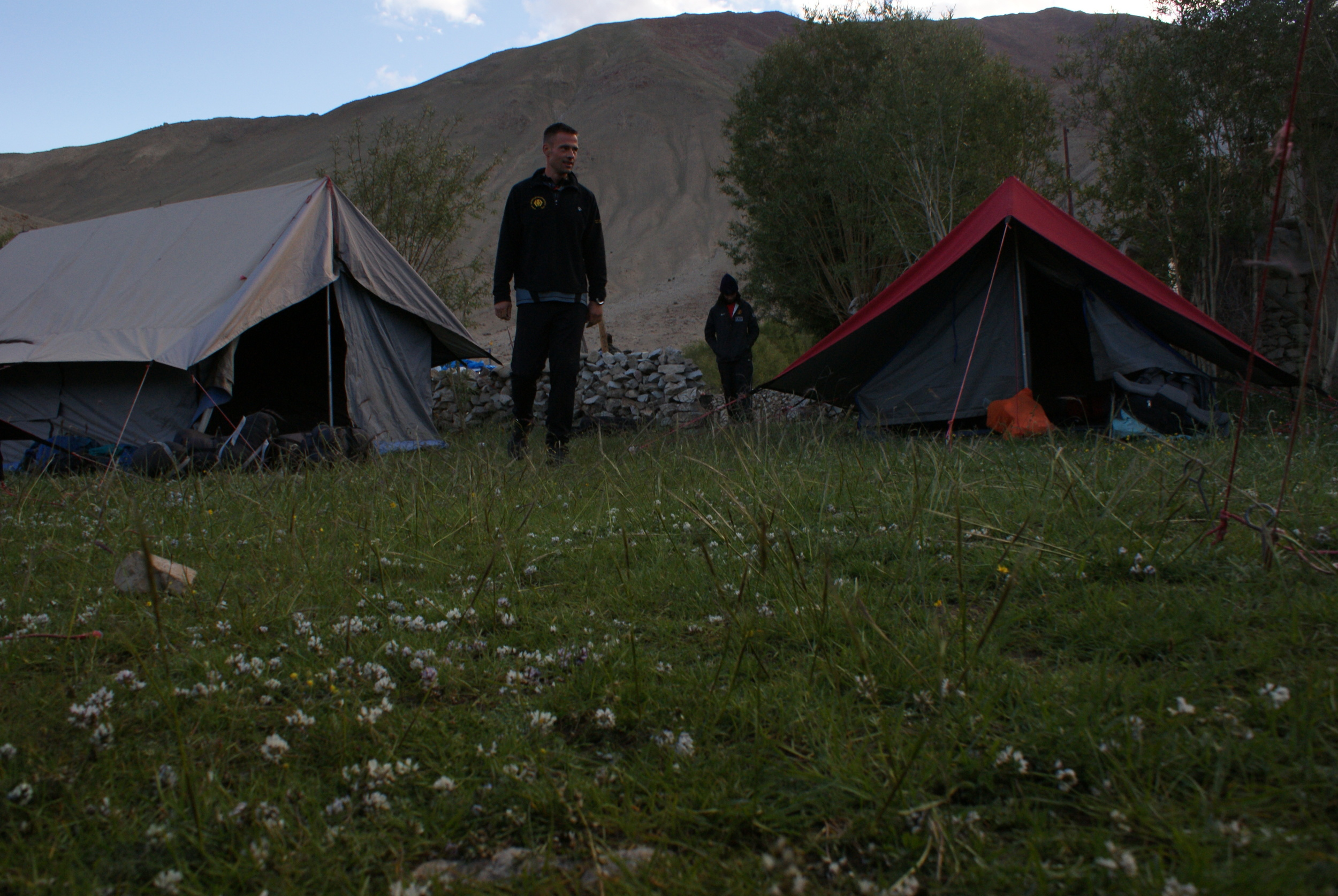 Checking the camp site