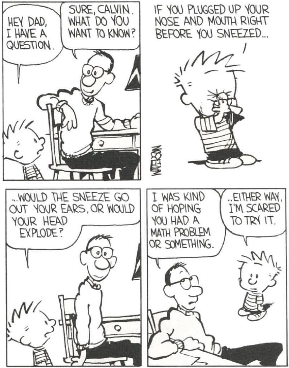 Calvin Sneeze question