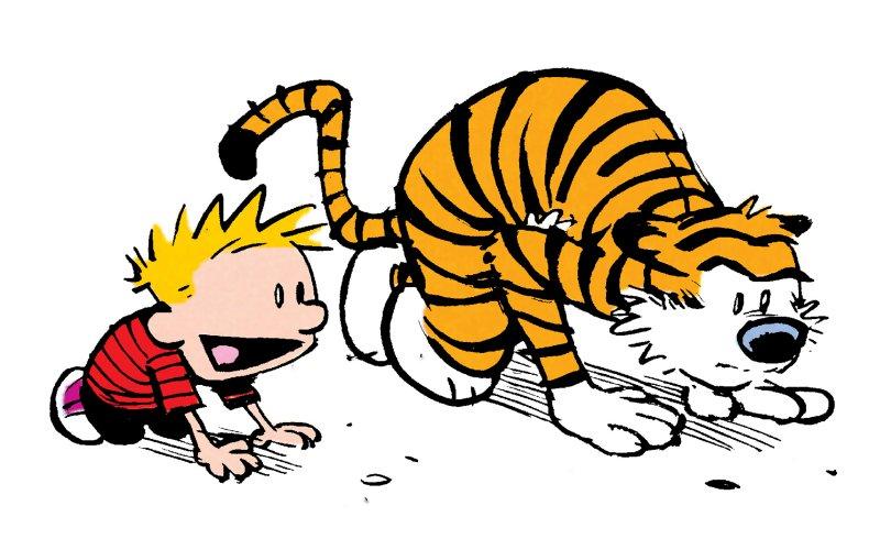 Calvin at start line