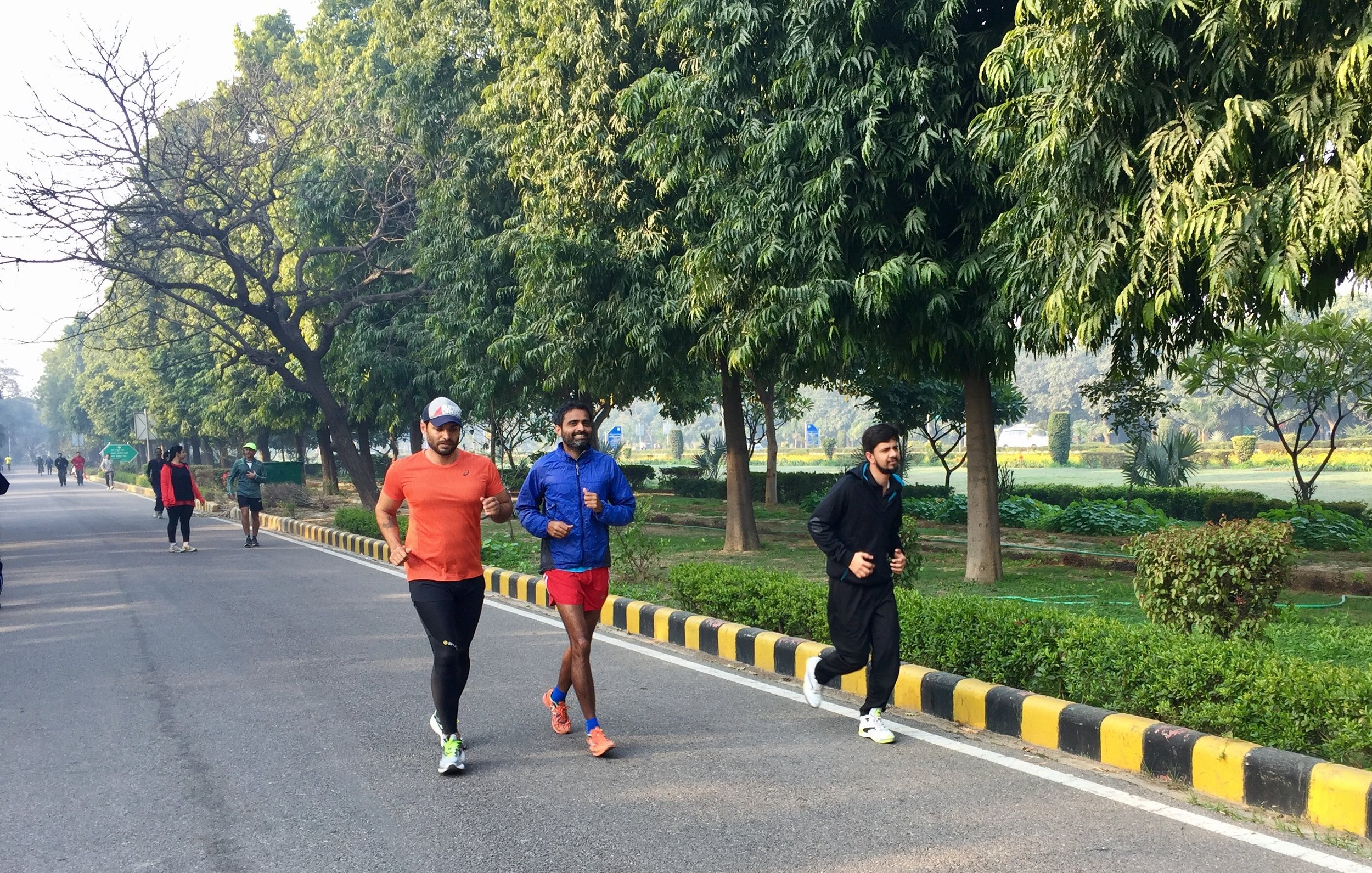 You make great friends while running. Percy (in blue) ran 111 km with me on these roads on 11.11.11
