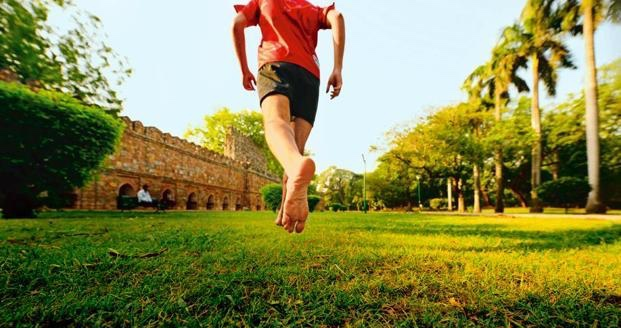 In Lodhi Garden. Pic courtesy Mint from my article  Relearn Running