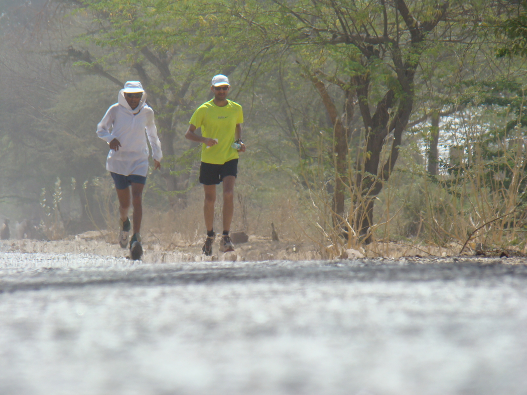 Running from Jodhpur to Jaisalmer in 2008, covering a marathon distance every day for 5 consecutive days. This was the first time I experienced hallucination while running, I saw some amazing dancing girls!