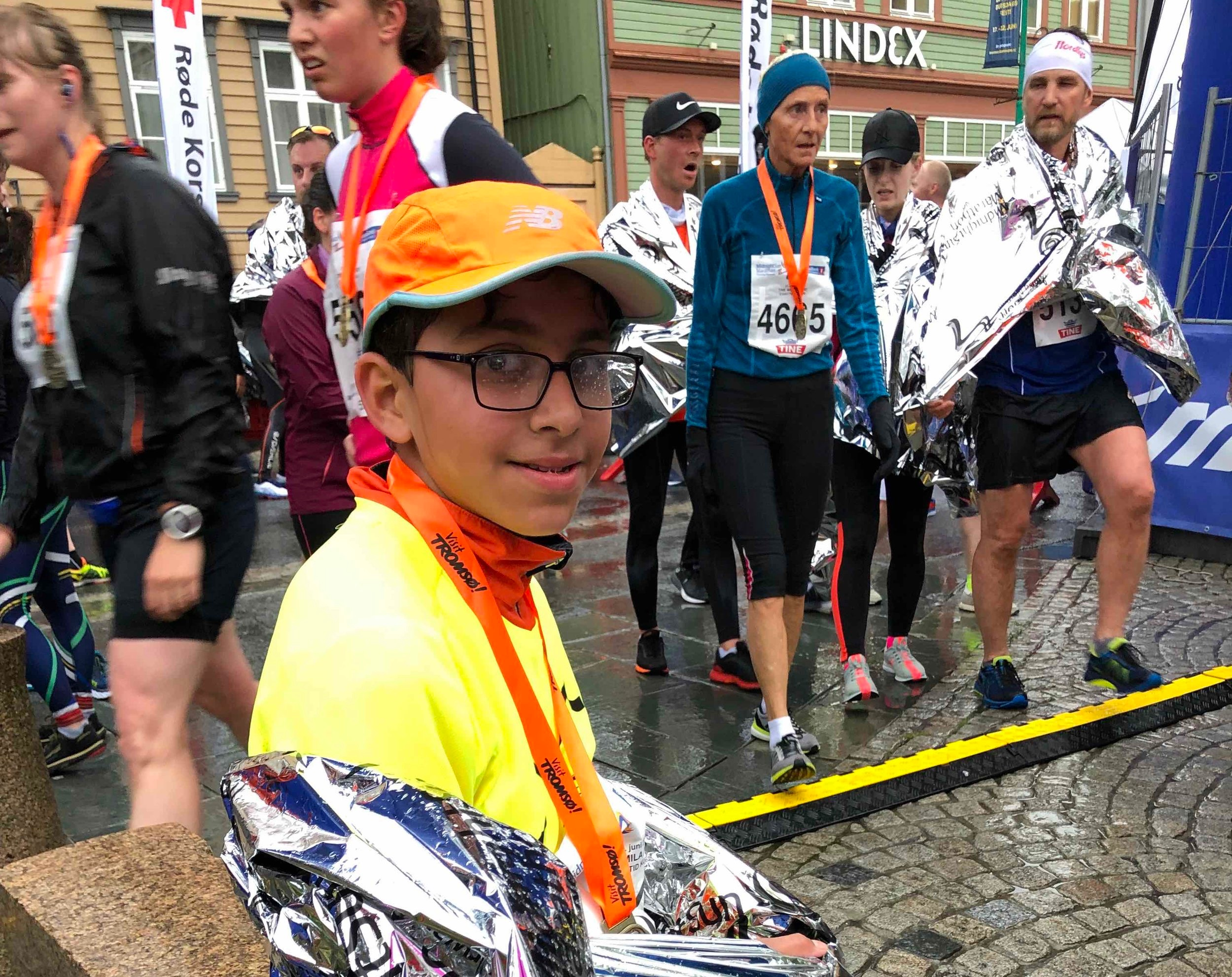 Viren after the finish. The dude was disappointed that he managed to only do 50 min.
