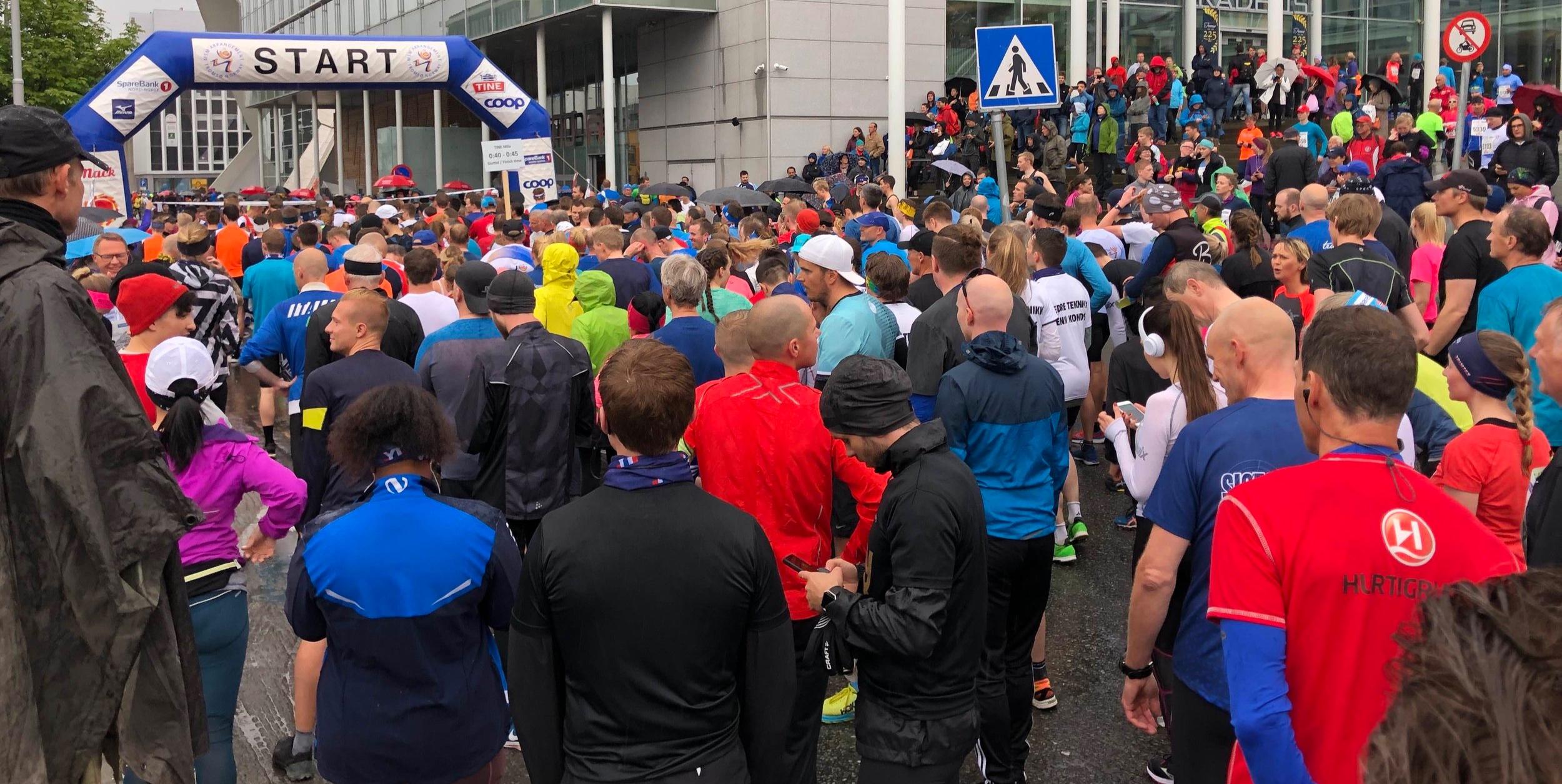 10 kms start line