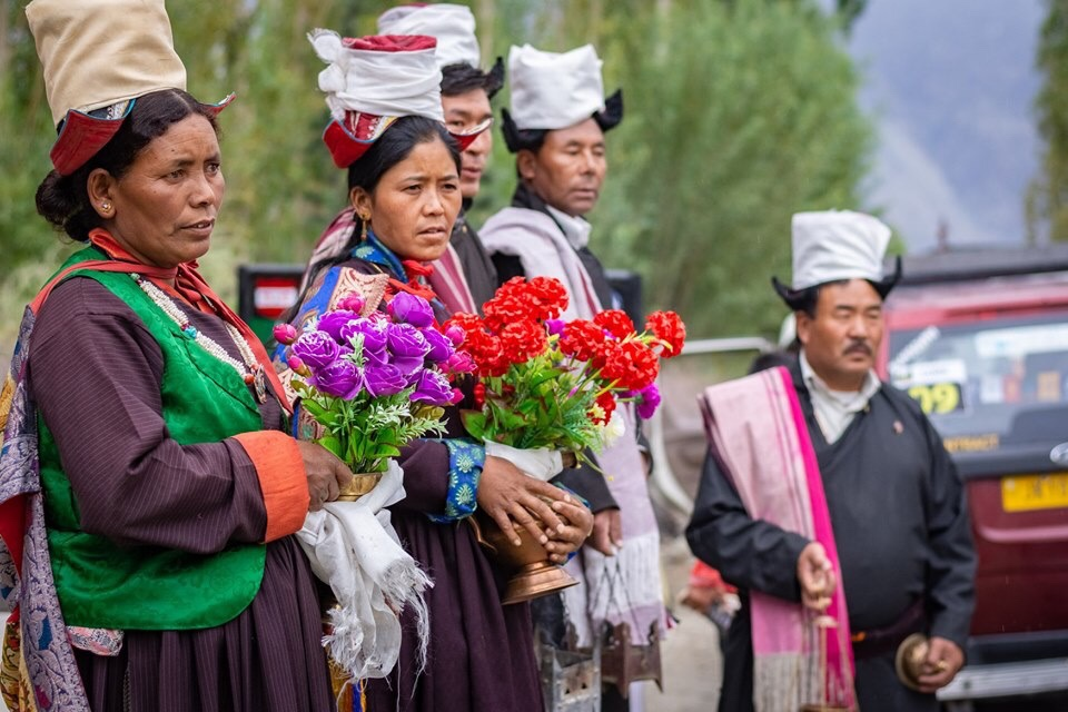Locals from Lakjung village at start line