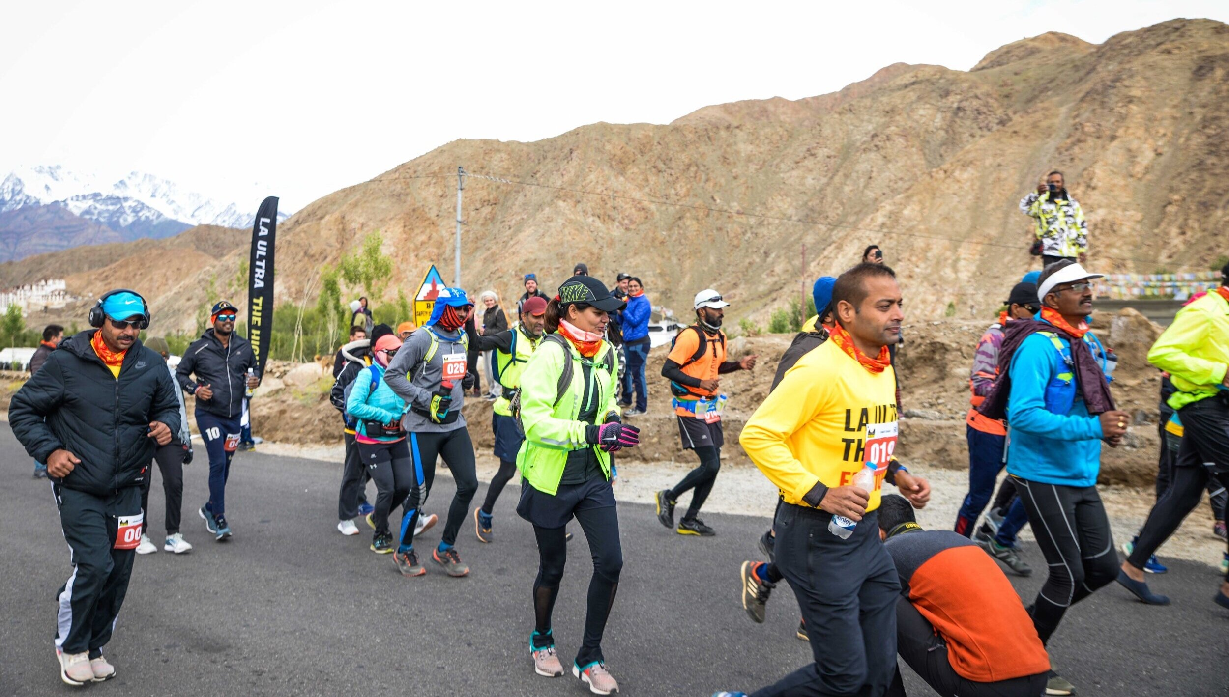 Bib no 026 is Sameer just after the start of 55 kms category.