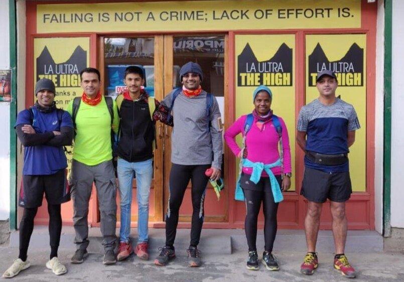 Sameer along with Wari-La gang outside La Ultra - The High HQ in Leh