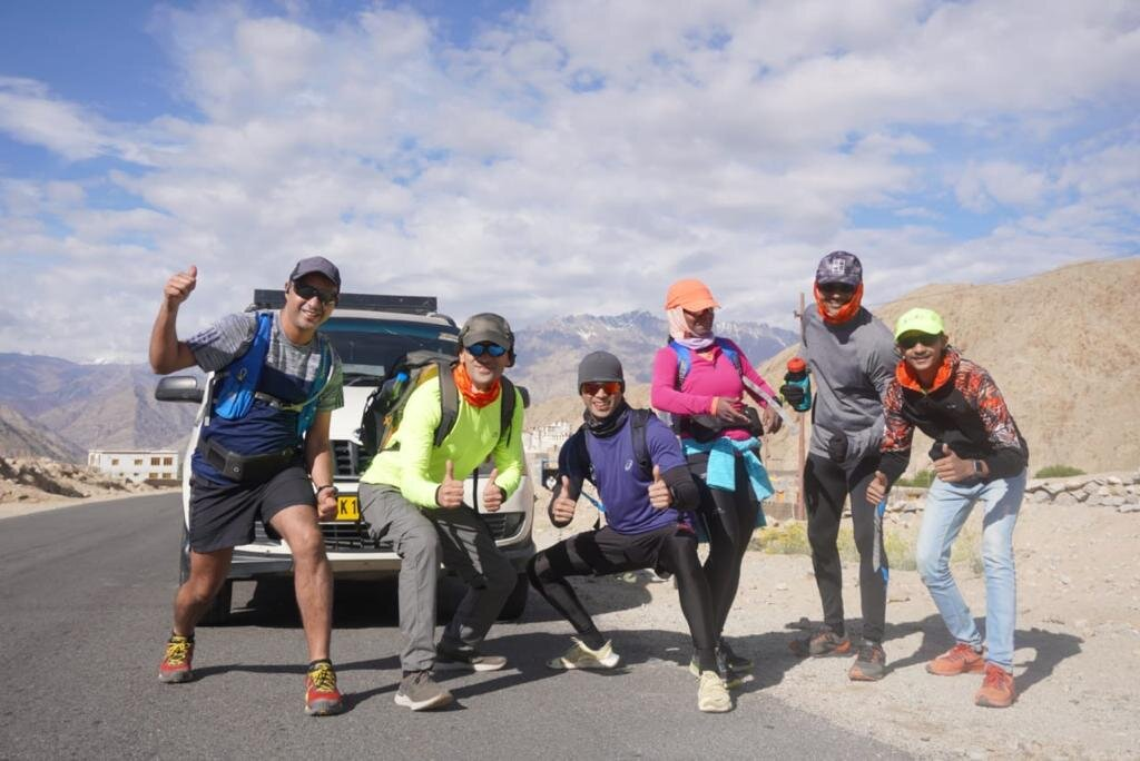 Sameer along with Wari-La gang on way to Wari-La top