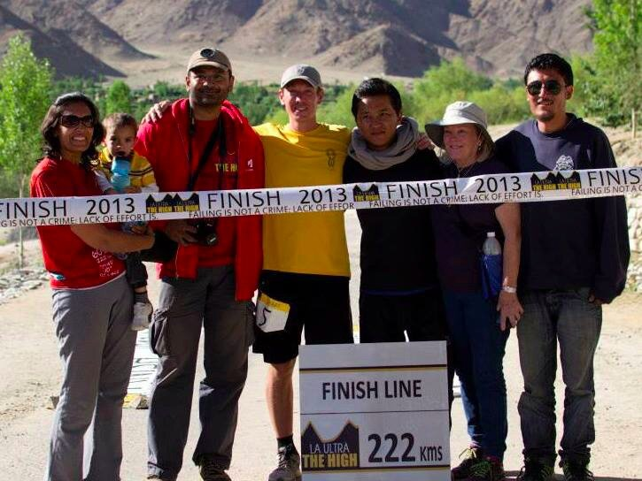 Sameer with Alex at the finish line of 222 kms way back in 2013.