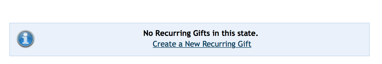 Step 3: Remove Any Reccuring Gifts - Click the