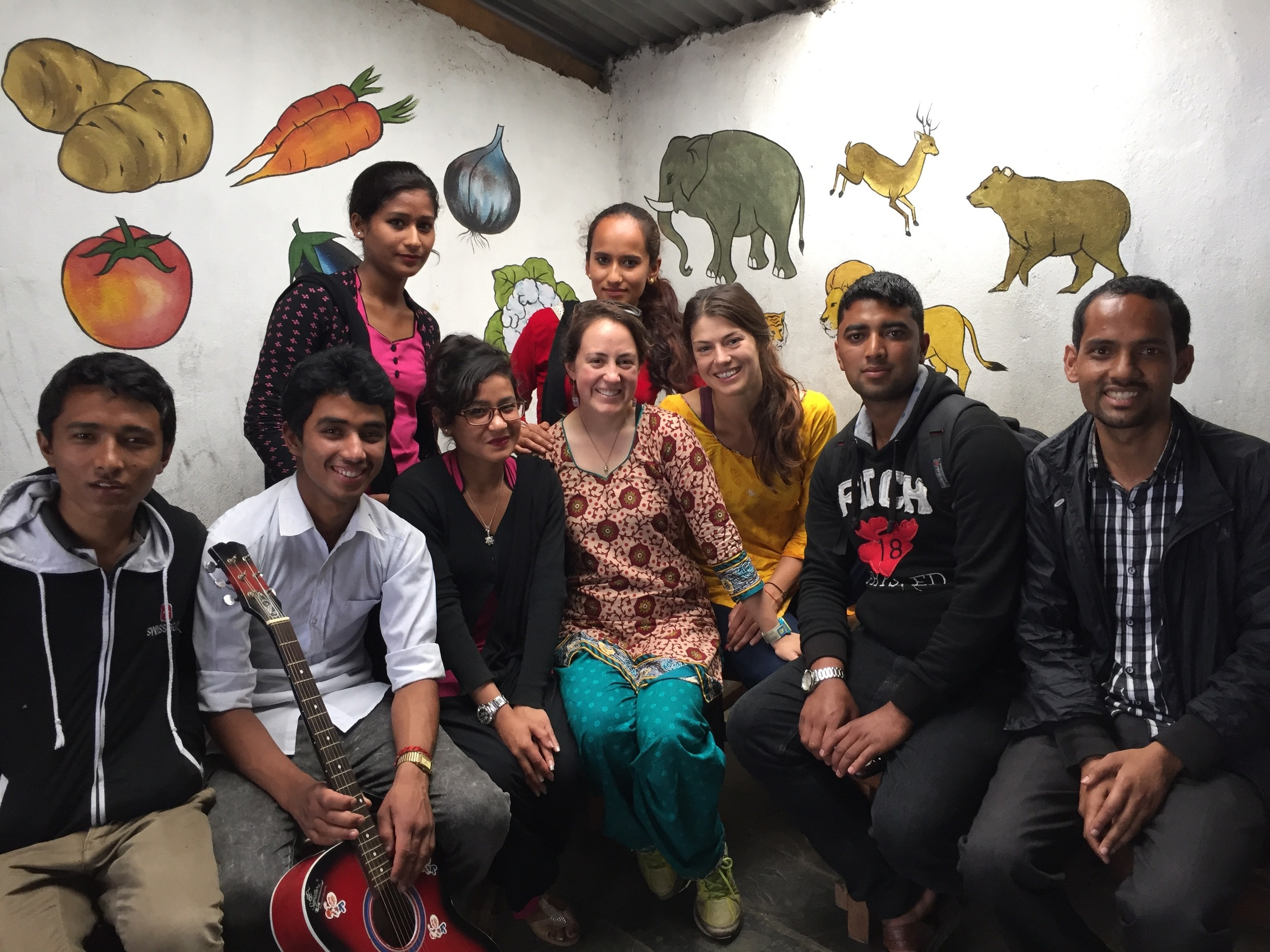 Hanging with Boch's best and brightest young teachers at the SaraSwathi English Boarding School