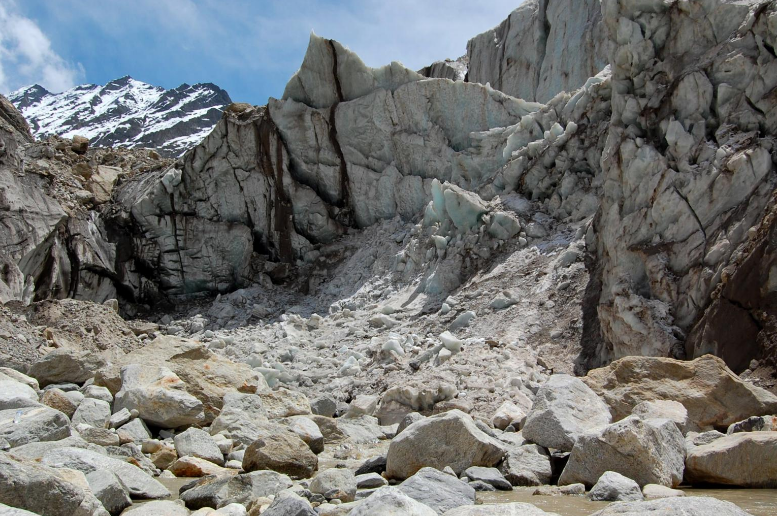 Gomukh glacier, source of the Ganga, India. ST PHOTO: NIRMAL GHOSH