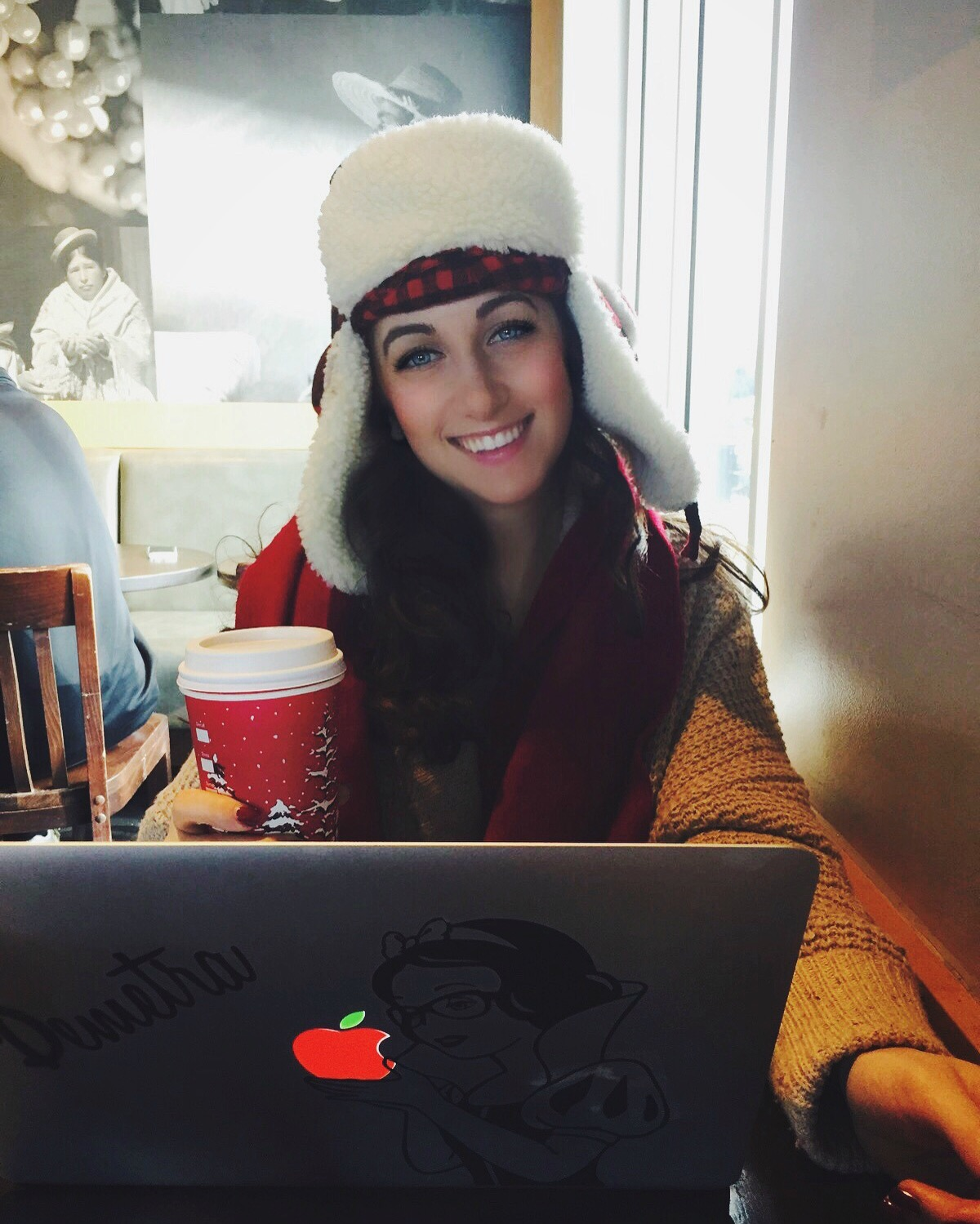 happily editing the last part of my book this past December - I call this my writing cap ;)