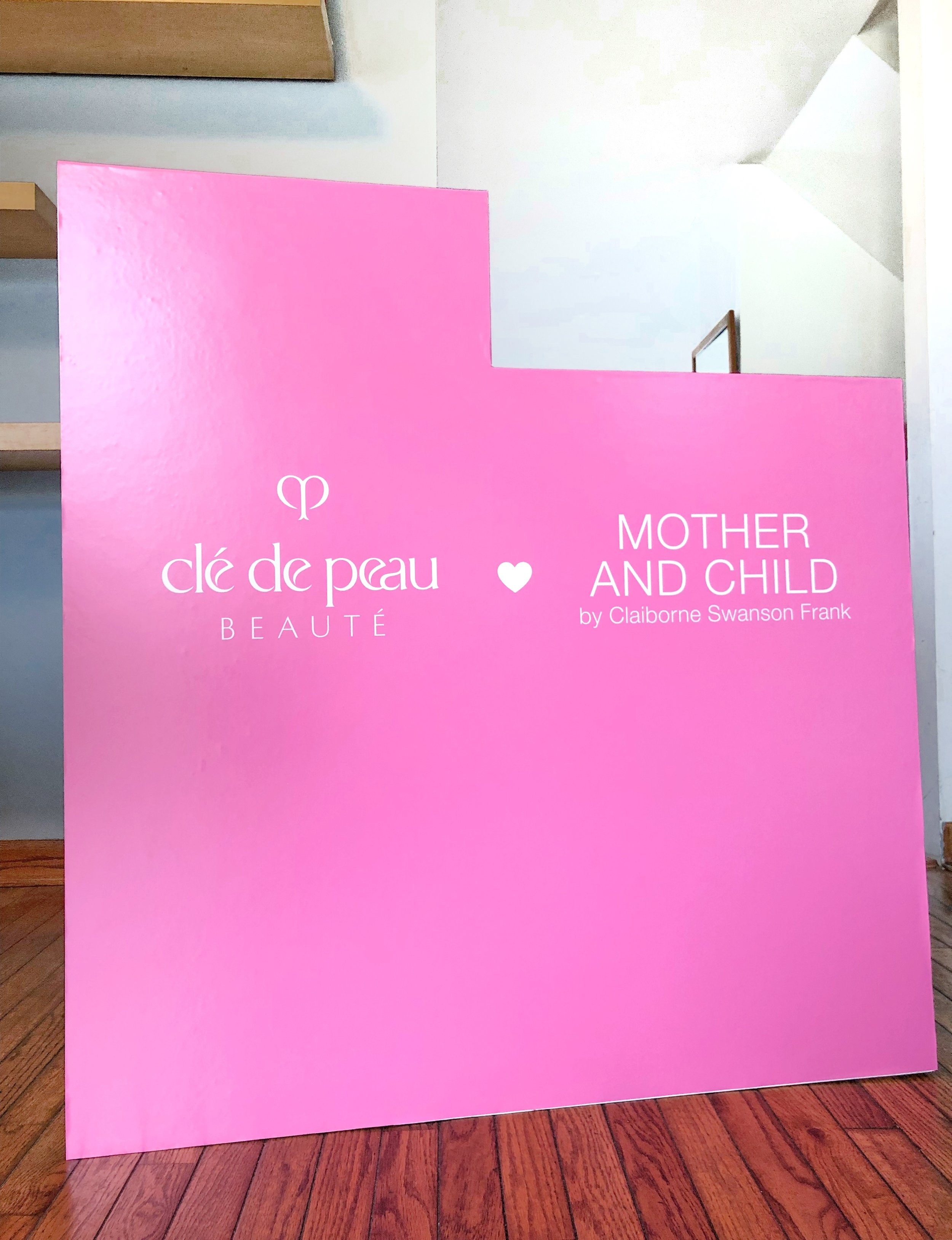 Branded Counter Wrap for Clé de Peau Book Launch for Claiborne Swanson Frank