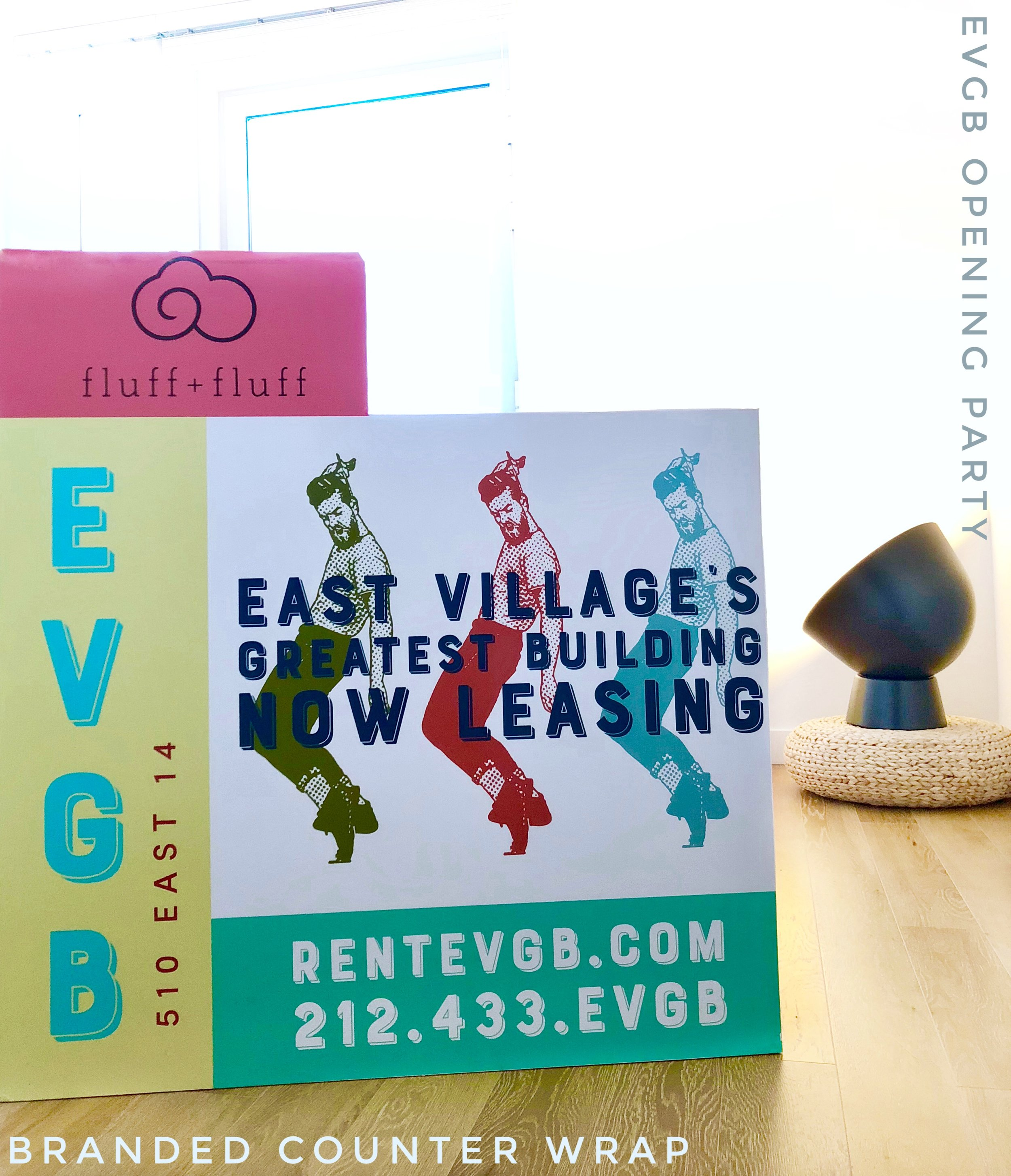 Branded Counter Wrap for EVGB Opening