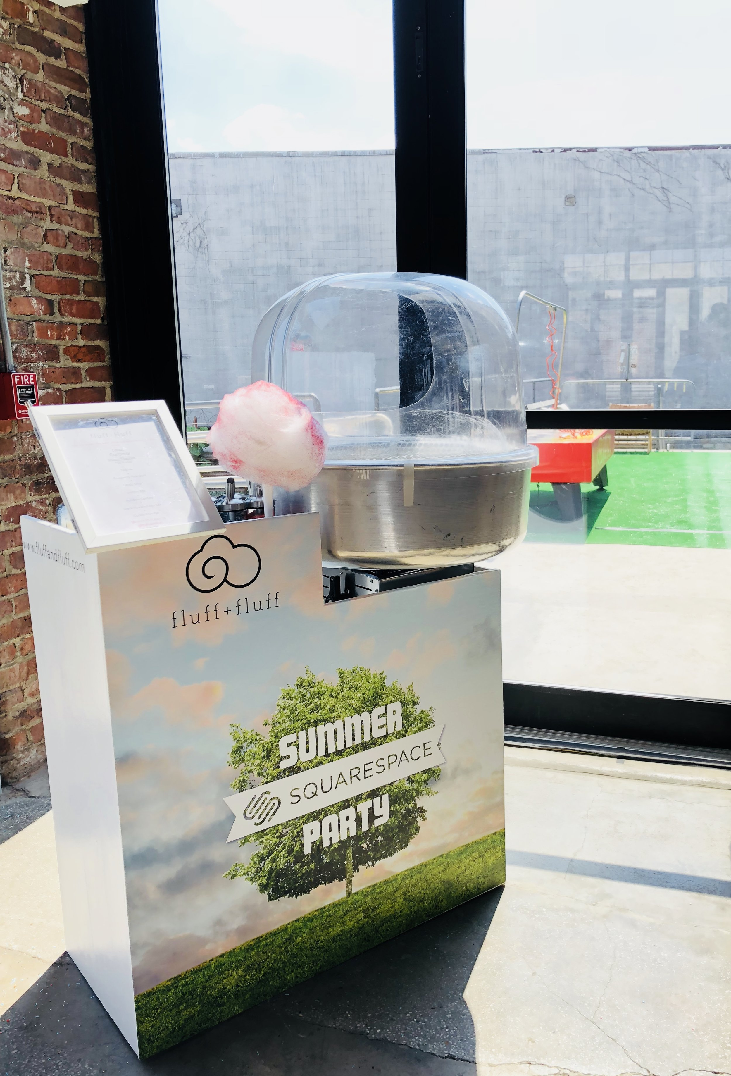 Branded Counter Wrap for Squarespace Summer Party