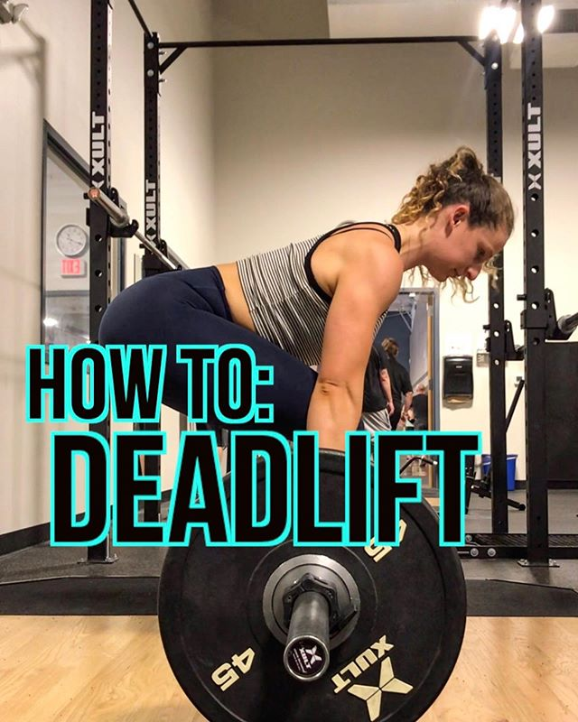 "HOW TO DEADLIFT  Step by step cues I like use when breaking down the conventional deadlift 📲🤞Save and tag a friend if you find this helpful  Deadlifts are a full body primary compound movement recruiting more muscles simultaneously than any other lift. Nailing the set up and executing proper form is crucial to reaping the benefits of this strength movement and staying safe as there are a lot of moving parts.  THE BREAKDOWN: ⇨STEP 1️⃣: Approach the bar and step into position that will have the barbell midway on your foot (splitting your foot in half from toe to heel), feet shoulder width apart straight or slightly turned out. ⇨STEP 2️⃣: Bend down and place your hands on the bar where your arms would naturally want to hang to grab barbell, hands outside of legs, knees unlocked. ⇨STEP 3️⃣: Bring shins to barbell by bending knees just enough to allow your shins to touch the bar and get hips into position DO NOT move the barbell. ⇨STEP 4️⃣: Tighten back (engage lats) and squeeze chest forward, this will flatten your back. * Pull slack out of the bar by applying a small amount of tension ""become one with the bar"" ⇨STEP 5️⃣: Pull the barbell up your body in a straight line, locking knees and hips out standing tall * can also think of it as pushing the floor away 🏋🏼‍♀️ If you are doing consecutive deadlifts its important that you're set up is dialed in each rep, don't be afraid to reset each time until you feel confident with the movement. . ❄️ Everyone is a unique snowflake and has different body types, biomechanics and leverages so its likely that your back angle and hip height will differ from your gym buddy. Find a position thats best suited to YOU! . 👌ALSO: Make sure you are wearing flat soled shoes without padding, no squishy shoes!!! If you found this video and cues helpful please be sure to ♥️, 💬 or 🤳🏽 bookmark this post!  Any other exercise demos you want to see? Let me know!  #ievolvefitness #deadlift #howtodeadlift #deadliftcue #workoutvideo #deadliftvideo #workouttip #shelifts #girlswhopowerlift #deadliftform #posteriorchain #core"