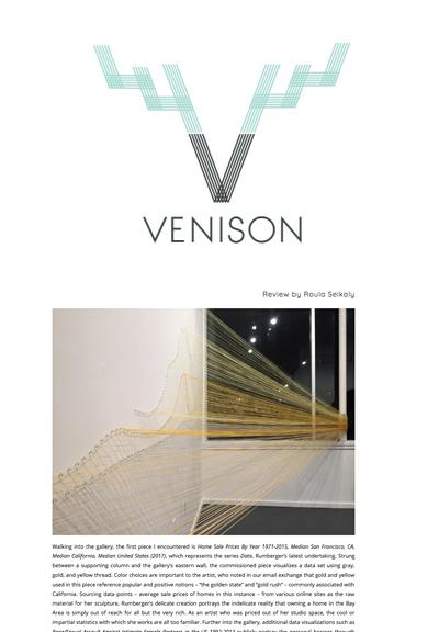VENISON Magazine: Review of Jana Rumberger's 'Metafiction' by Roula Seikaly