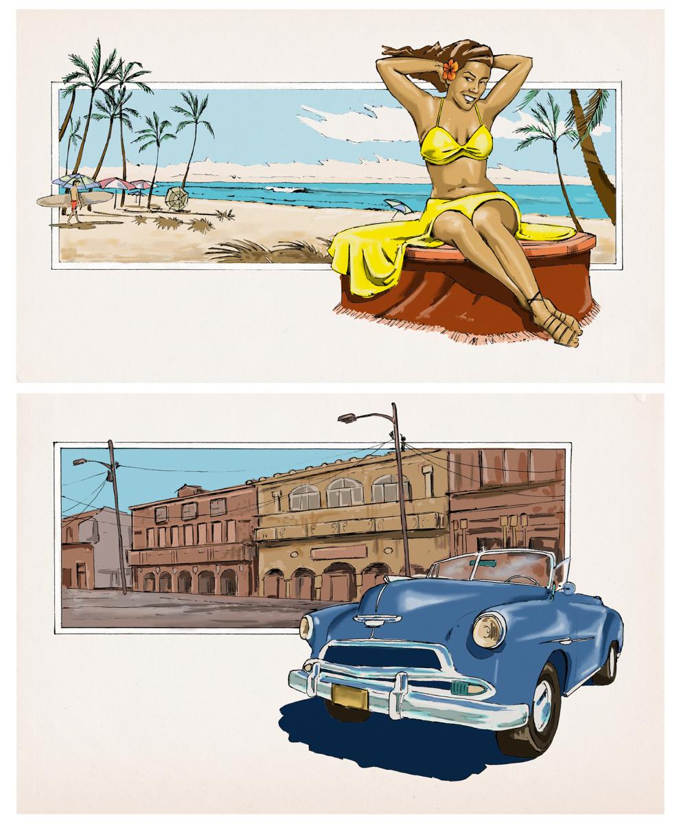 CUBAN DAYS & CUBAN NIGHTS   photoshop