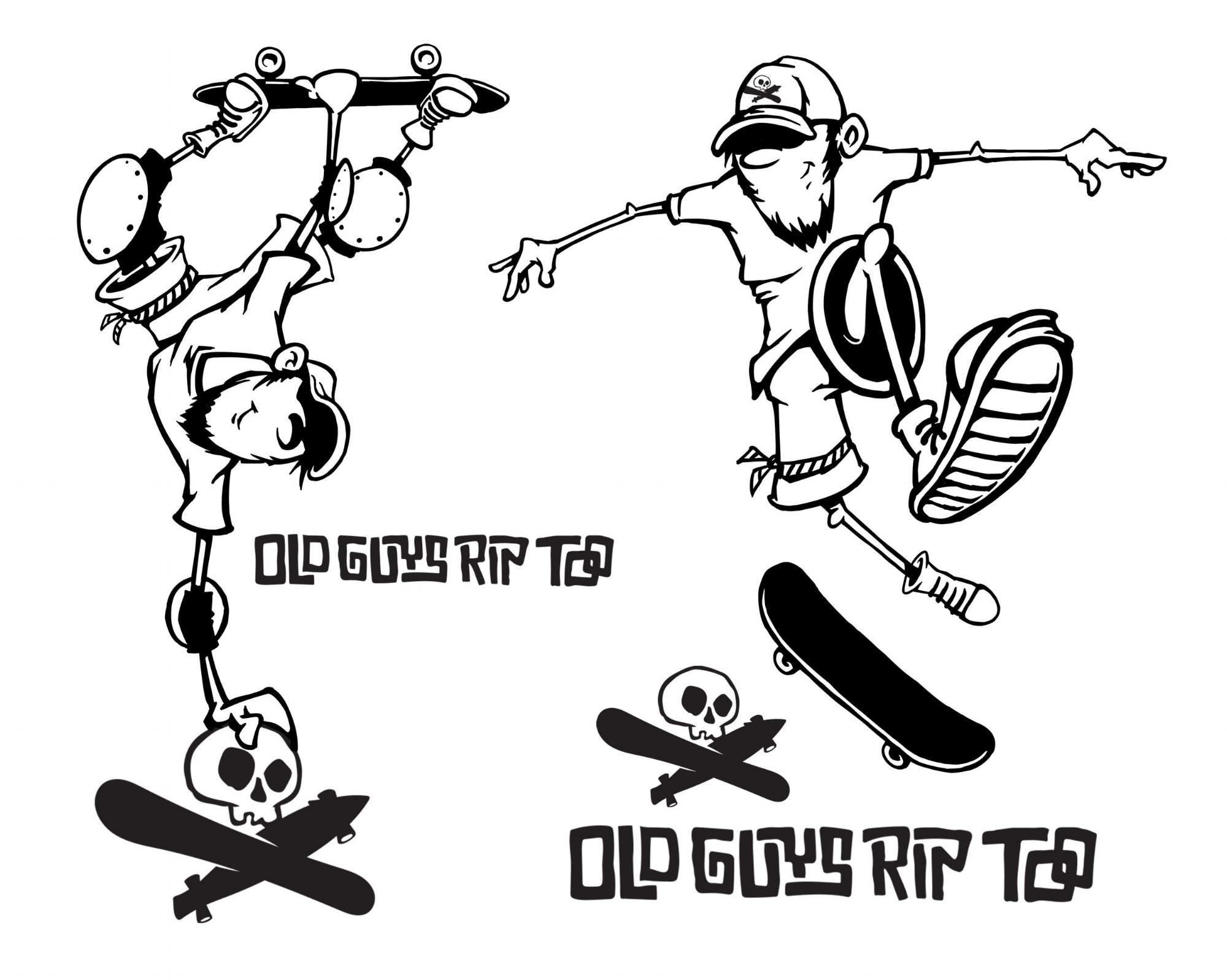 Old Guys Rip Too Logo T-shirt Design