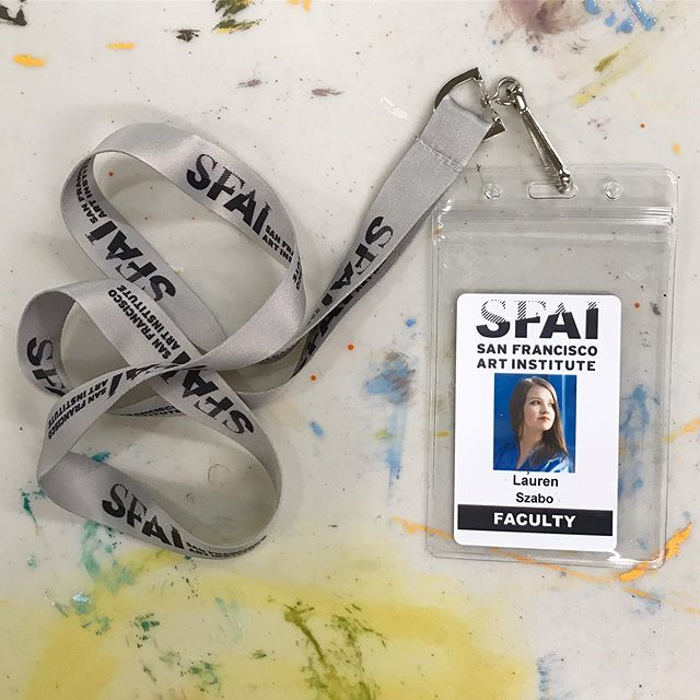 My heart is full after teaching my first adult public education painting session at my alma mater. My passion for this institution continues to grow, first as a student and now as faculty. Thank you @artistvat @ezlistening1 for being rocks and role models in the painting department. #artschoolforever #sfai #sfaialumni #fortmasoncenter @sfaiofficial @sfaialumni
