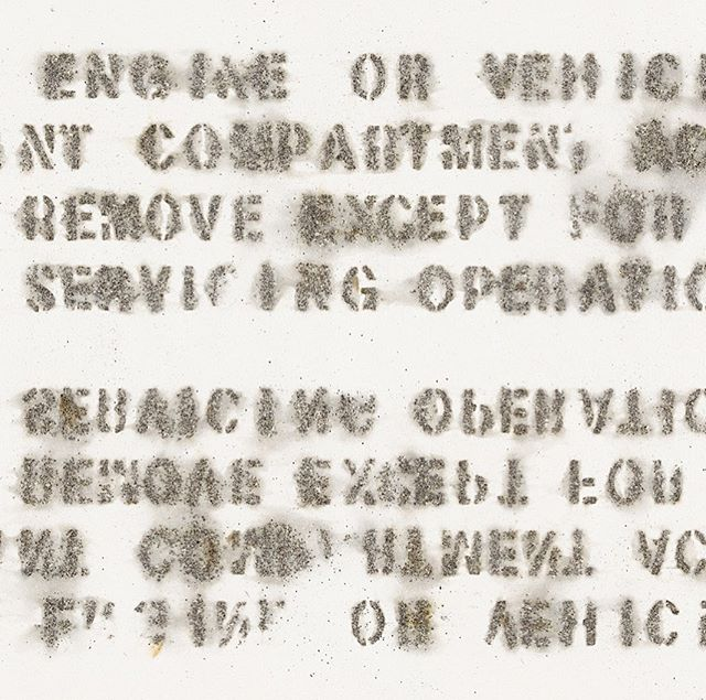 "Detail of ""Friendly Fire"", gunpowder on canvas, 2019. #gunpowderpainting #agapolis #thetrackedproject #laurenszabo #laurenjadeszabo #contemporaryart"
