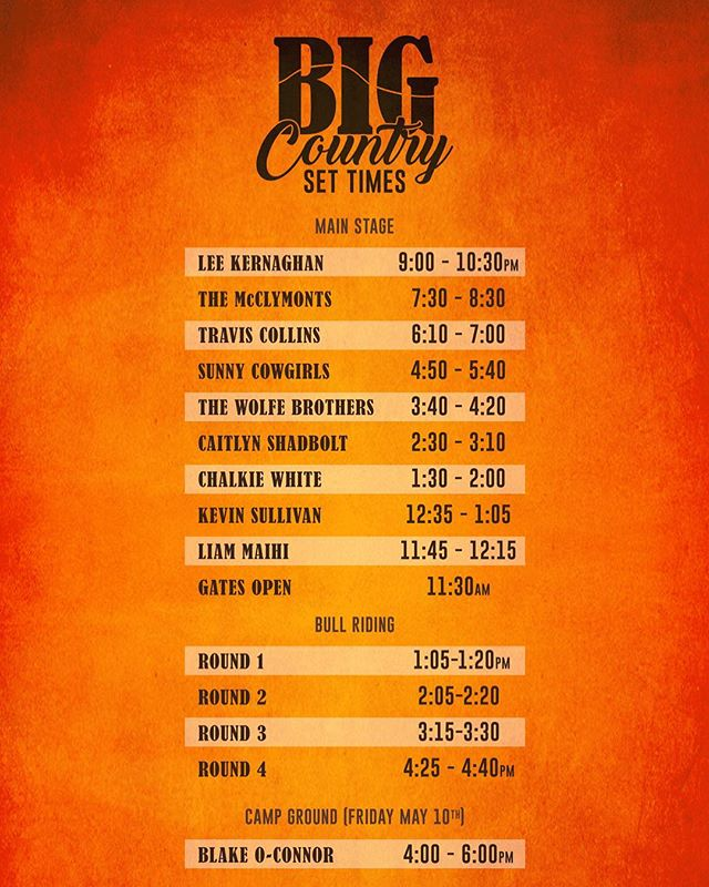 Our very first country festival and HOT DANG we are excited about it!! Can't wait to get down to @bigcountryfestival in May 🔥🤠