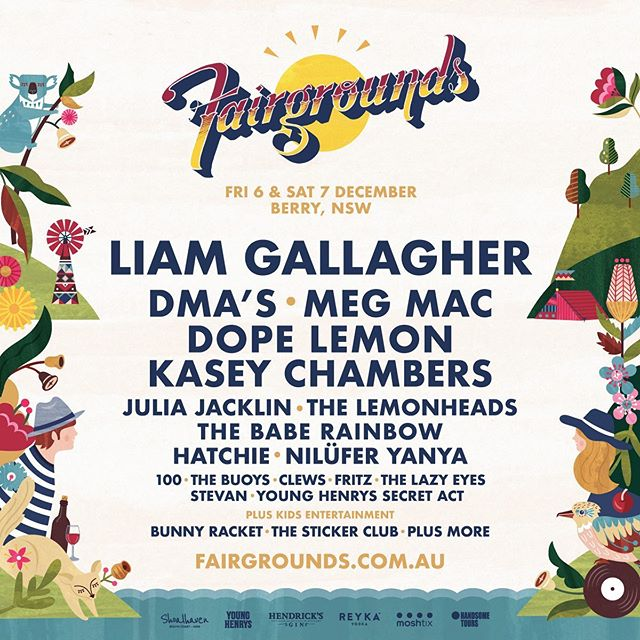 We run the marketing and partnerships for this fam-bam friendly festival and we're just a teensy bit (a.k.a very much much) proud of this!! 🐨 Our third year working with @fairgroundsfestival with the help and expertise of the best team of artists/suppliers/experts/dang good peeps: @isaacwilliamsdesignobjects @andreasmith_illustration @scrabble_pr @keepitfrank_ @blstr.co @yeahsu.re @audience_republic