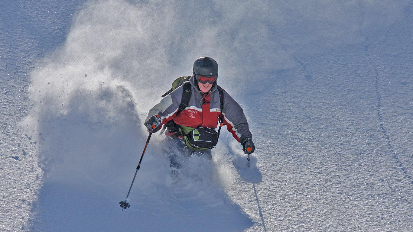 Backcountry Skiing Tokachi Mountains.