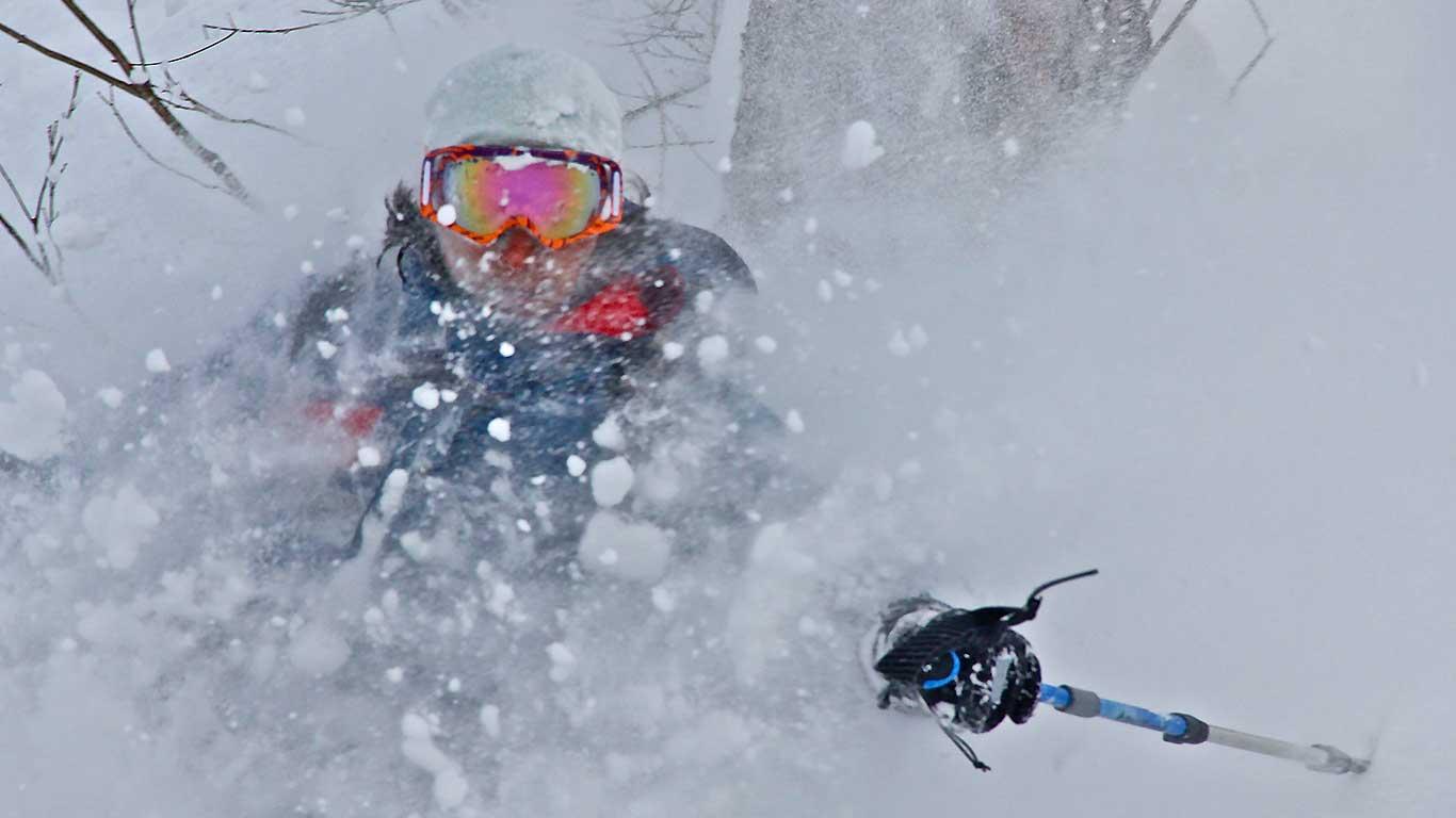 Backcountry ski Asahi Dake