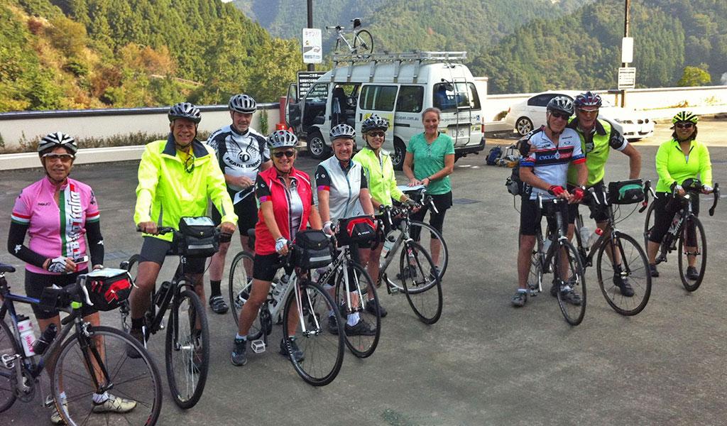 Shikoku tour in the Iya Gorge.