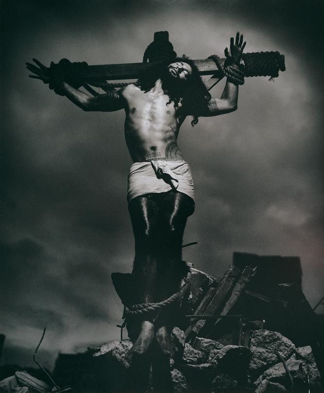Auto Portrait with Crucifix