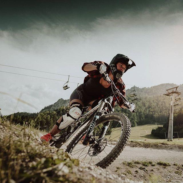 Suzy's first downhill at Kranjska Gora bikepark :)